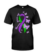 anal-cancer-purple-green-never Classic T-Shirt front