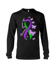 anal-cancer-purple-green-never Long Sleeve Tee thumbnail