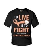 uterine-cancer-peach-lfi Youth T-Shirt thumbnail