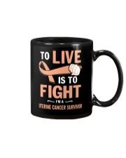 uterine-cancer-peach-lfi Mug thumbnail