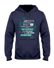 cervical-cancer-teal-white-STUCK Hooded Sweatshirt thumbnail