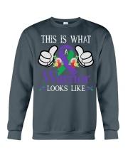 anal-cancer-purple-green-tiwall Crewneck Sweatshirt thumbnail