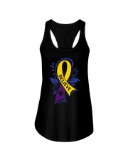 bladder-cancer-marigold-blue-purple-believe Ladies Flowy Tank tile