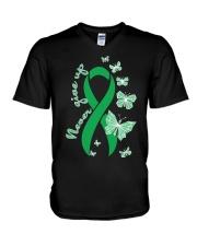 bile-duct-cancer-kellygreen-never V-Neck T-Shirt thumbnail