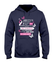 breastlung-cancer-warrior-pink-white-stuck Hooded Sweatshirt thumbnail