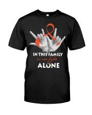 leukemia-orange-fight-together Classic T-Shirt front