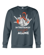 leukemia-orange-fight-together Crewneck Sweatshirt thumbnail