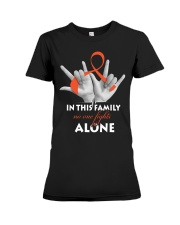 leukemia-orange-fight-together Premium Fit Ladies Tee thumbnail