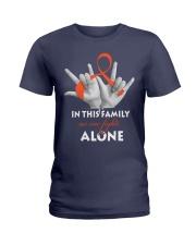 leukemia-orange-fight-together Ladies T-Shirt thumbnail