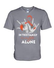 leukemia-orange-fight-together V-Neck T-Shirt thumbnail
