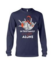 leukemia-orange-fight-together Long Sleeve Tee thumbnail