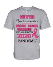breast-cancer-pink-npan V-Neck T-Shirt tile