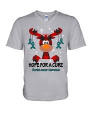 ovarian-cancer-teal-hfac V-Neck T-Shirt thumbnail
