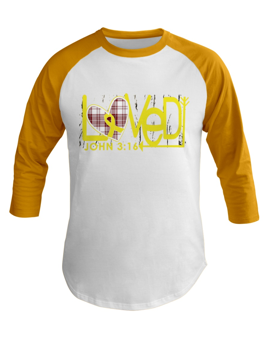 bone-cancer-yellow-loved Baseball Tee