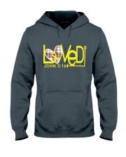 bone-cancer-yellow-loved Hooded Sweatshirt thumbnail