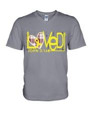 bone-cancer-yellow-loved V-Neck T-Shirt thumbnail