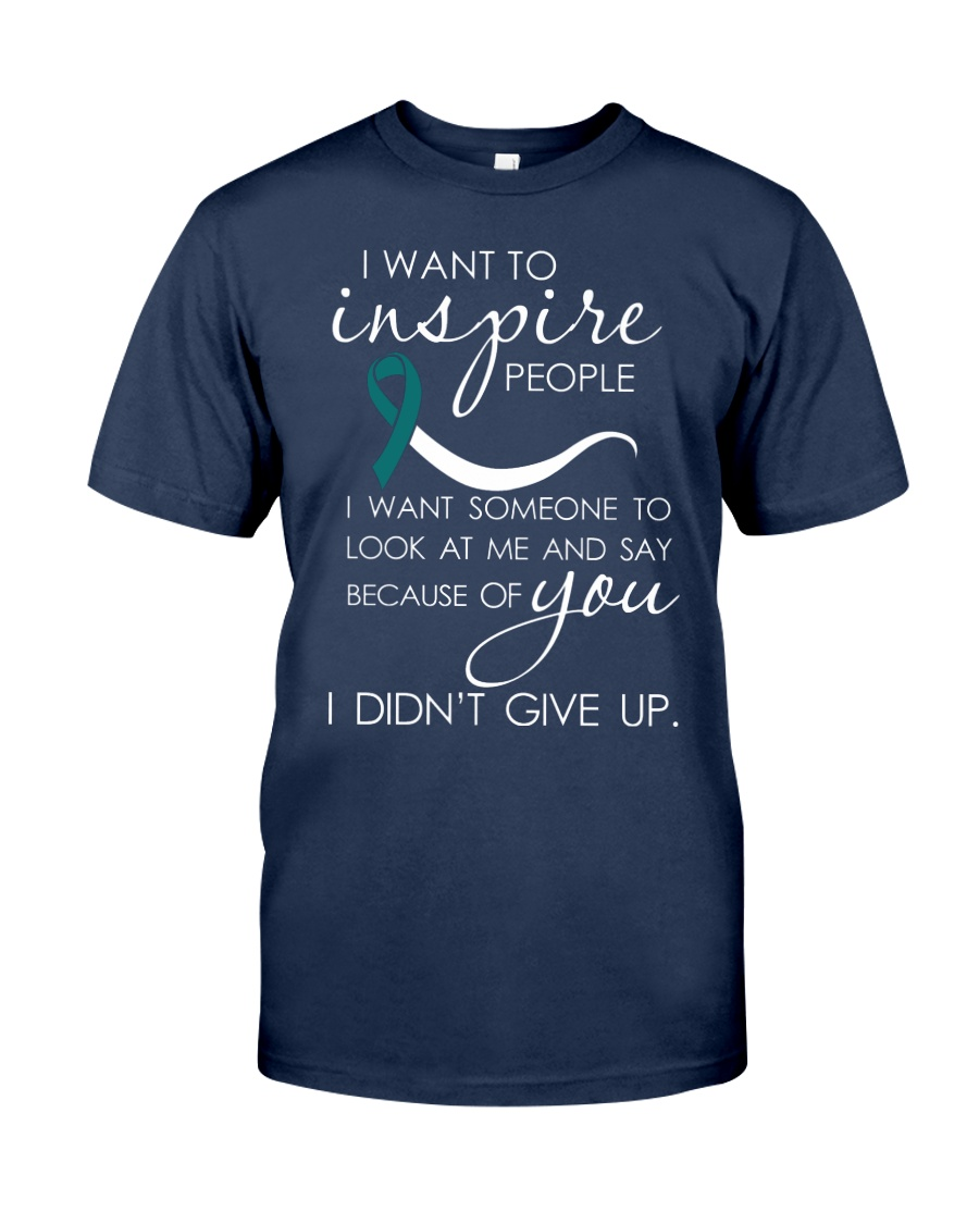 cervical-cancer-teal-white-inspire Classic T-Shirt
