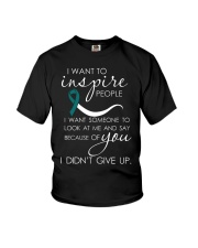 cervical-cancer-teal-white-inspire Youth T-Shirt thumbnail