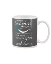 cervical-cancer-teal-white-inspire Mug thumbnail