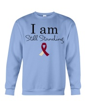 head-neck-cancer-burgundy-ivory-ssta Crewneck Sweatshirt thumbnail