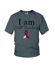 head-neck-cancer-burgundy-ivory-ssta Youth T-Shirt thumbnail