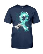 cervical-cancer-teal-white-hope Classic T-Shirt front