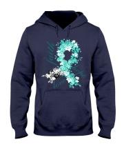 cervical-cancer-teal-white-hope Hooded Sweatshirt thumbnail