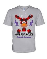 dementia-purple-hfac V-Neck T-Shirt thumbnail