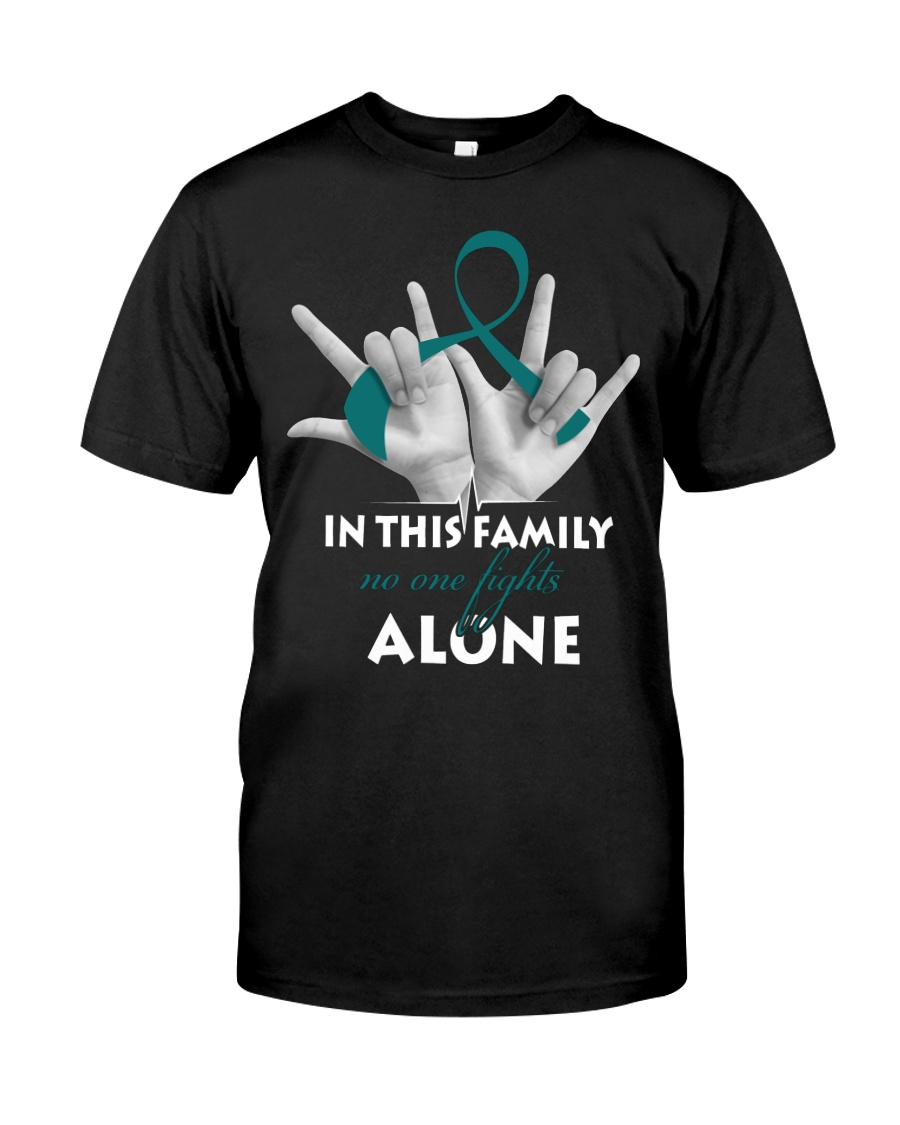 ovarian-cancer-teal-fight-together Classic T-Shirt