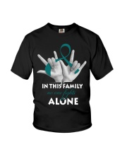 ovarian-cancer-teal-fight-together Youth T-Shirt thumbnail