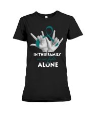 ovarian-cancer-teal-fight-together Premium Fit Ladies Tee thumbnail