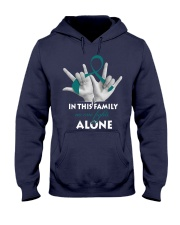 ovarian-cancer-teal-fight-together Hooded Sweatshirt thumbnail