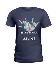 ovarian-cancer-teal-fight-together Ladies T-Shirt thumbnail