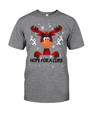 lung-cancer-white-hfac Classic T-Shirt front