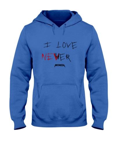 I love never hoodie