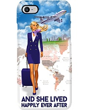 And She Lived Happily Ever After Phone Case - Phone Case For Flight Attendants - Flight Attendant Birthday Xmas Gift Phone Case i-phone-8-case