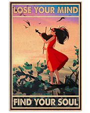 Lose Your Mind Find Your Soul Poster - Violin Playing Girl Poster - Home Decor - No Frame Full Size 11x17 16x24 24x36 Inches 11x17 Poster front