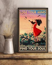 Lose Your Mind Find Your Soul Poster - Violin Playing Girl Poster - Home Decor - No Frame Full Size 11x17 16x24 24x36 Inches 11x17 Poster lifestyle-poster-3