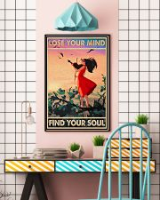 Lose Your Mind Find Your Soul Poster - Violin Playing Girl Poster - Home Decor - No Frame Full Size 11x17 16x24 24x36 Inches 11x17 Poster lifestyle-poster-6