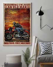 Assuming I'm Just An Old Man Was Your First Mistake Poster - Poster For Motorcycle Riders - Motorcycle Rider Birthday Xmas Gift - Home Decor -Wall Art 11x17 Poster lifestyle-poster-1