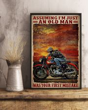 Assuming I'm Just An Old Man Was Your First Mistake Poster - Poster For Motorcycle Riders - Motorcycle Rider Birthday Xmas Gift - Home Decor -Wall Art 11x17 Poster lifestyle-poster-3