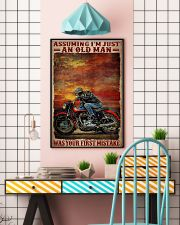 Assuming I'm Just An Old Man Was Your First Mistake Poster - Poster For Motorcycle Riders - Motorcycle Rider Birthday Xmas Gift - Home Decor -Wall Art 11x17 Poster lifestyle-poster-6