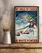 My Drug Of Choice Is White Powder Poster - Poster For Skiing Lovers - Skiing Lover Birthday Xmas Gift - Home Decor - Wall Art - No Frame  11x17 Poster lifestyle-poster-3