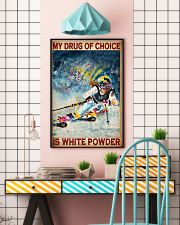 My Drug Of Choice Is White Powder Poster - Poster For Skiing Lovers - Skiing Lover Birthday Xmas Gift - Home Decor - Wall Art - No Frame  11x17 Poster lifestyle-poster-6