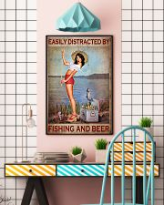 Easily Distracted By Fishing And Beer Poster - Poster For Fishing And Beer Lovers - Home Decor - No Frame Full Size 11x17 16x24 24x36 Inches 11x17 Poster lifestyle-poster-6