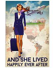 And She Lived Happily Ever After Poster - Poster For Flight Attendants - Flight Attendant Birthday Xmas Gift - Home Decor - Wall Art - No Frame 11x17 Poster front