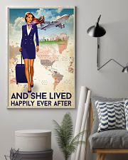 And She Lived Happily Ever After Poster - Poster For Flight Attendants - Flight Attendant Birthday Xmas Gift - Home Decor - Wall Art - No Frame 11x17 Poster lifestyle-poster-1