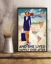 And She Lived Happily Ever After Poster - Poster For Flight Attendants - Flight Attendant Birthday Xmas Gift - Home Decor - Wall Art - No Frame 11x17 Poster lifestyle-poster-3