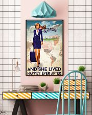 And She Lived Happily Ever After Poster - Poster For Flight Attendants - Flight Attendant Birthday Xmas Gift - Home Decor - Wall Art - No Frame 11x17 Poster lifestyle-poster-6