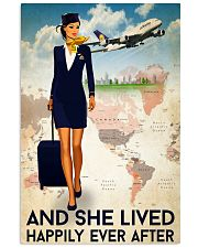 And She Lived Happily Ever After Flight Attendant Poster - Home Decor - No Frame Full Size 11x17 16x24 24x36 Inches 11x17 Poster front